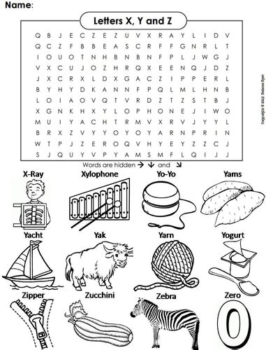 three letter z words the letters x y and z word search by sciencespot 25286 | image?width=500&height=500&version=1519314091816