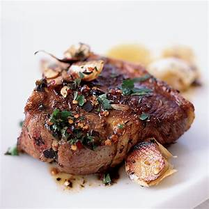 chops sizzled with garlic recipe janet mendel