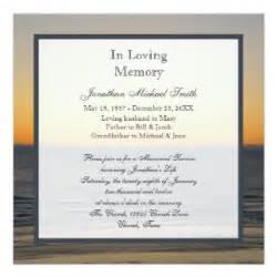 memorial service invitations announcements zazzle