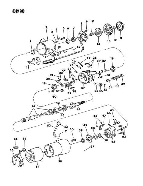 Dodge Dakotum Part Diagram by 1988 Dodge Ram Ram Wagon Column Steering With