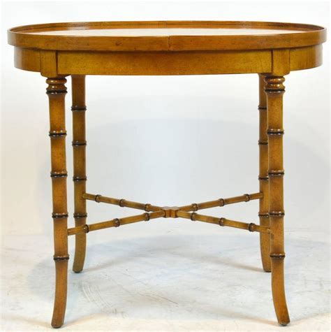 faux bamboo table l vintage mid century baker faux bamboo chinoiserie style