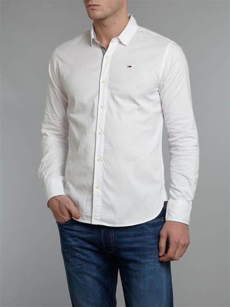 plaid slim fit sleeve shirt hilfiger sleeve georgetown oxford shirt in