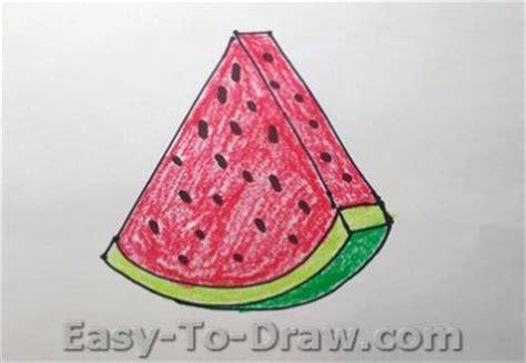 draw watermelon archives easy  drawcom