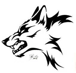 Snarling Wolf Head Tattoo
