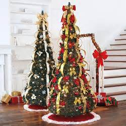 Pre Lit Decorated Pop Up Christmas Tree by Pull Up Christmas Trees Up In 5 Minutes