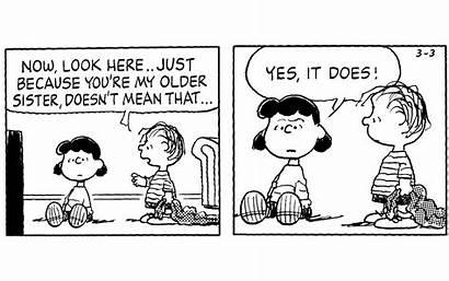Peanuts Snoopy Growing Ups Siblings Having Cartoon