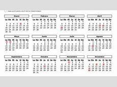 Vacaciones Calendario laboral 2017 en la Comunidad de
