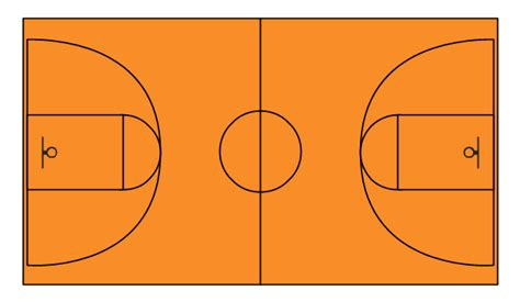 basketball courts vector stencils library basketball