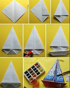 Origami Bateau à Voile : comment faire un bateau en papier une activit ludique ~ Dode.kayakingforconservation.com Idées de Décoration