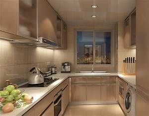 kitchen interior design rendering with fruit decoration With interior decoration of a kitchen