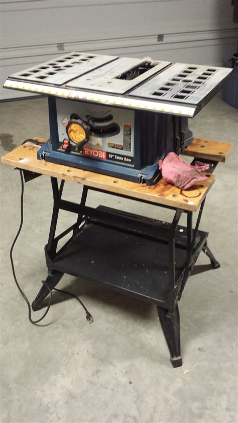 black  decker workmate   hold  table