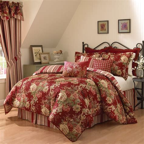 waverly ballad bouquet  piece comforter set  hayneedle