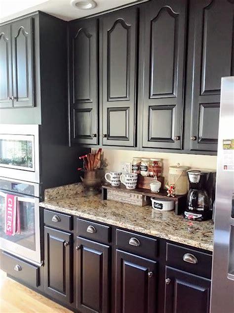 Kitchen Cupboard Paint Ideas - black kitchen cabinets makeover reveal hometalk
