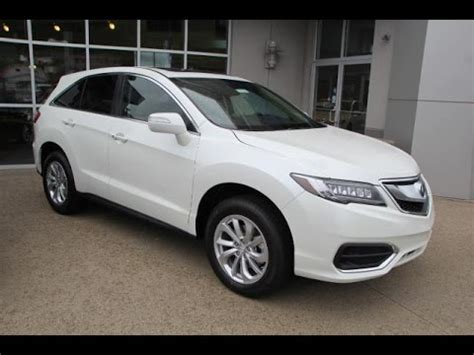 white diamond pearl  acura rdx awd  technology