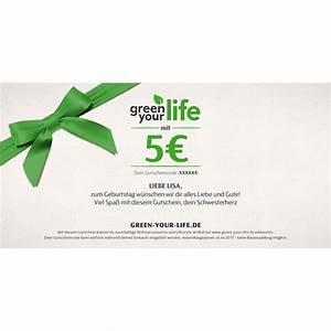 Gutschein Bild Shop : gutschein zum selbstausdrucken wert 5 von green your life ~ Buech-reservation.com Haus und Dekorationen