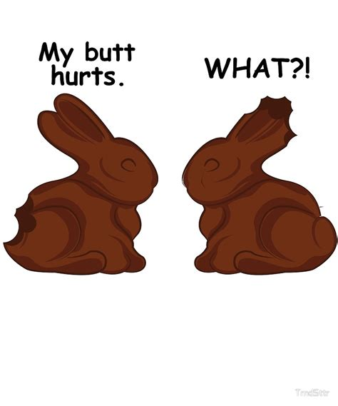 Chocolate Bunny Meme - quot funny easter bunny meme hollow chocolate quot by trndsttr redbubble