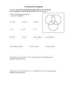 Set Notation And Venn Diagrams Worksheet For 8th