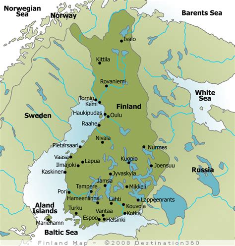 map  finland cities google search maps pinterest