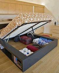 under the bed storage Creative storage solution for RV Glamper beds that lift ...