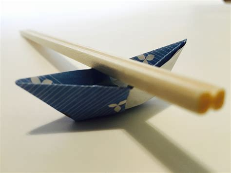 Origami Boat Chopstick Rest by Chopstick Holder Origami Boat In 13 Easy Steps