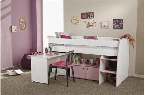 lit mezannine avec bureau et armoire 2 portes int 233 gr 233 e lit enfant pas cher