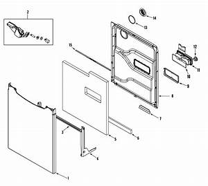 Door Diagram  U0026 Parts List For Model Mdbh950aww Maytag