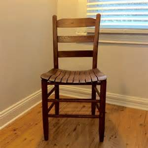 antique ladder back chair with a slat seat rustic americana