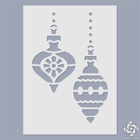 stencil christmas tree ornaments fn deco arts and crafts