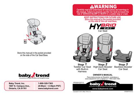 Babytrend Hybrid 3in1 User Manual  48 Pages