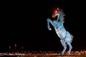 blucifer at the denver international airport follow me