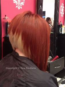 Dramatic A-line bob with two-tone color | Hair ideas ...