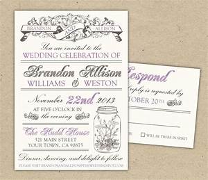 Wedding invitations templates free download theruntimecom for Wedding invitation card format templates free download