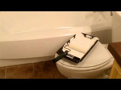 bathtub tub paint painting bathroom surround tile makeover diy kit refinishing rust oleum bath refinish