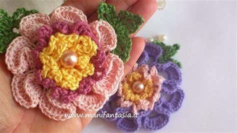 fiori a uncinetto tutorial fiori uncinetto per applicazioni tutorial manifantasia