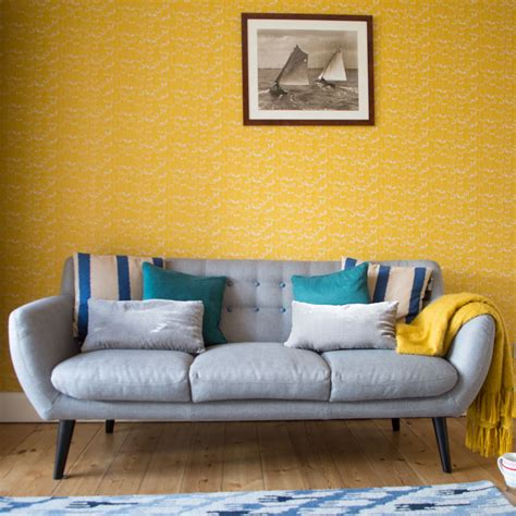 Yellow Living Room Wallpaper by Living Room Wallpaper Wallpaper For Living Room Grey