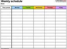 Blank Weekly Calendar Template printable calendar templates