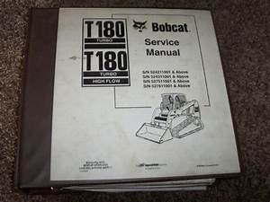 Bobcat Ingersoll Rand T180 Skid Steer Loader Factory Shop