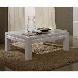 Table Basse Blanche Rectangulaire : table basse rectangulaire design laqu e blanche medusa matelpro ~ Melissatoandfro.com Idées de Décoration