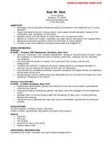 Objective For A Nursing Assistant Resume by Cna Sle Resume Student Resume Template