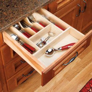 kitchen cabinet storage inserts rev a shelf wood cutlery organizer for drawers small 5813