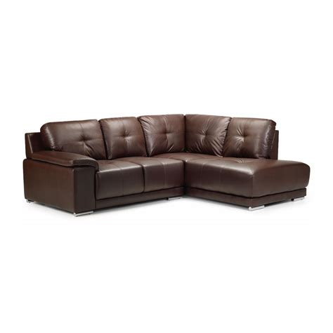 chaise but furniture brown leather sectional tufted