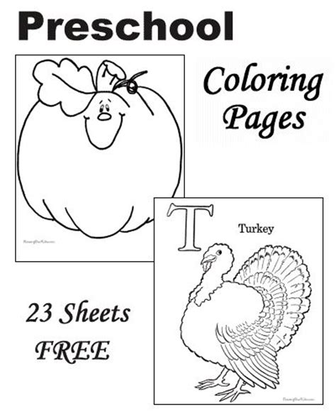 preschool thanksgiving coloring pages coloring pages
