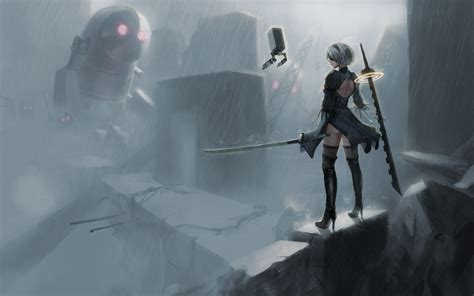 nier automata 5k hd anime 4k wallpapers images