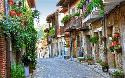Town Streets Italy Desktop Geo Towns Wall