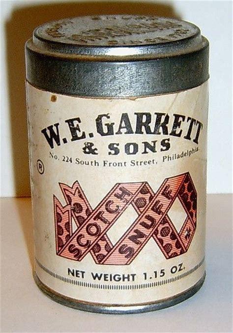 garrett sons scotch snuff vintage  snuff boxes