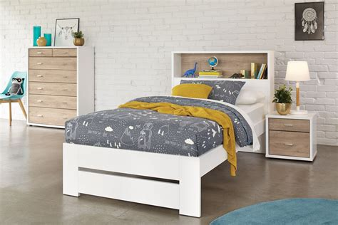 Hero King Single Bed Frame With Storage Headboard By