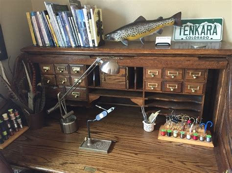 fly tying desk setup a tour of my new fly tying desk tenkara talk