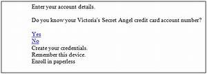 Victoria Secret Angel credit card registration procedure ...