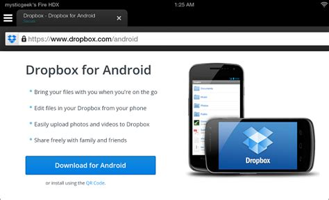 how to install dropbox on kindle