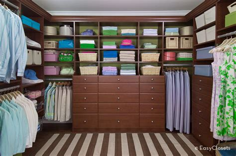 grand chestnut walk in closet by easyclosets